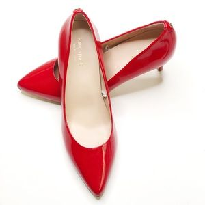 New Kate Spade Red Patent Leather Pumps